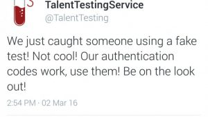 Talent Testing