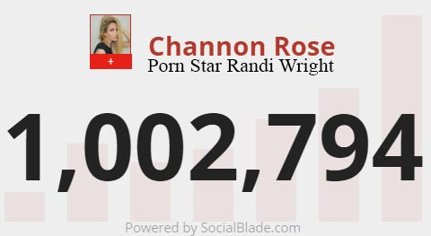 While Channon Rose Known In The Porn World As Randi Wright Has Become A Mega Youtube Star And Her Main Channel Has Just Hit 1 Million Subscribers