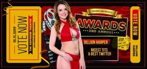Dillion Harper Celebrates the Summer Heat with 2 PornHub Award Nominations